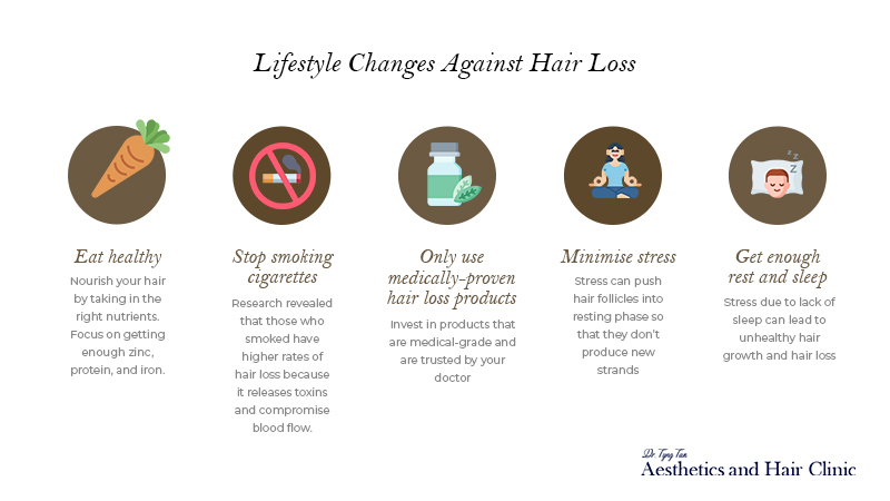 Lifestyle changes against Hair Loss